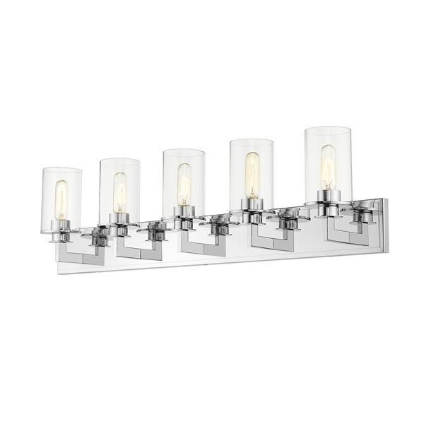 Z-Lite Savannah 5-Light Vanity Light - Chrome