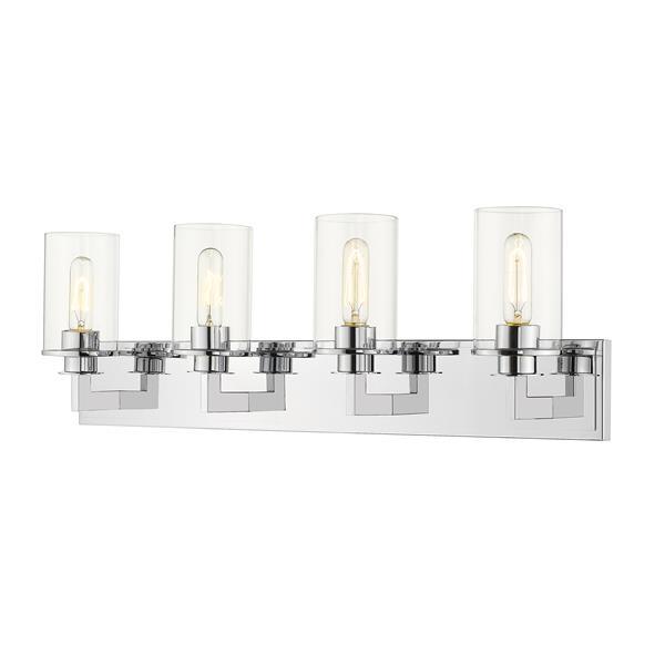 Z-Lite Savannah 4-Light Vanity Light - Chrome