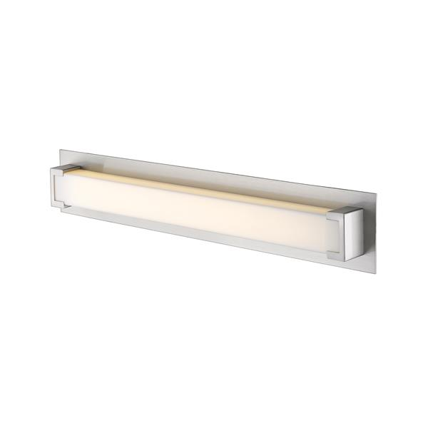 Z-Lite Elara Vanity Light - Nickel and Frosted Glass - 28-in