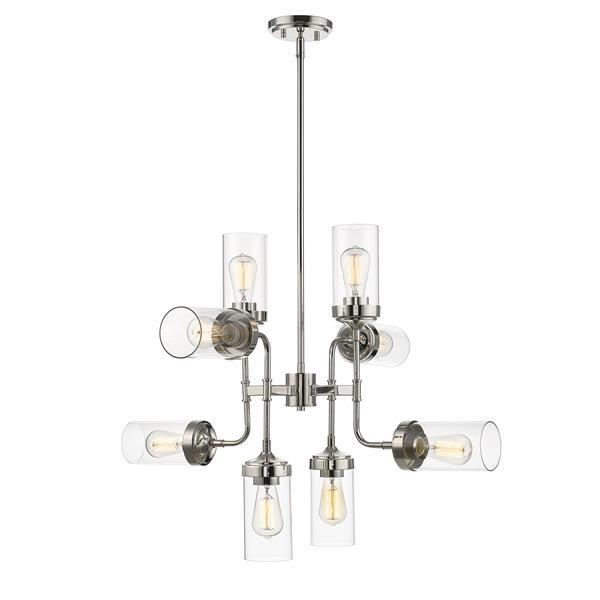 Z-Lite Calliope 8-Light Pendant Light - Nickel