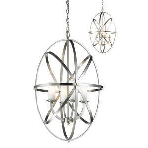 Lumière suspendue à 4 lumières «Aranya», nickel