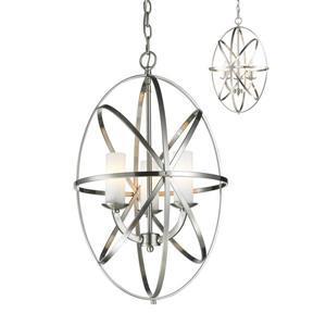 Lumière suspendue à 3 lumières «Aranya», nickel
