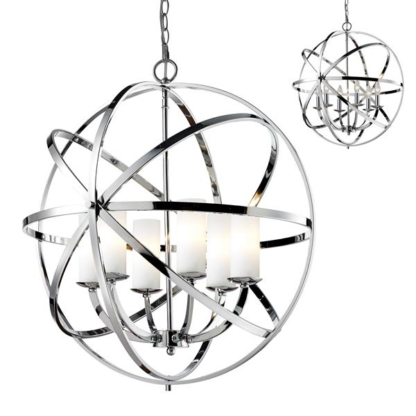 Z-Lite Aranya 6-Light Pendant Light - Chrome