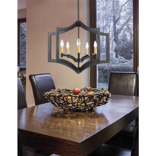 Z-Lite Zander 5-Light Pendant Light - Bronze