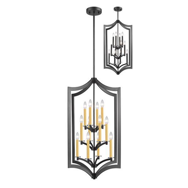 Z-Lite Zander 12-Light Pendant Light - Bronze