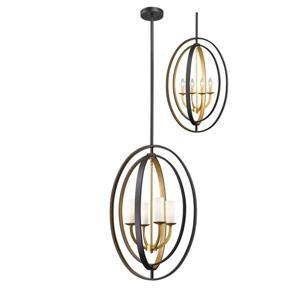 Lumière suspendue à 4 lumières «Ashling», or
