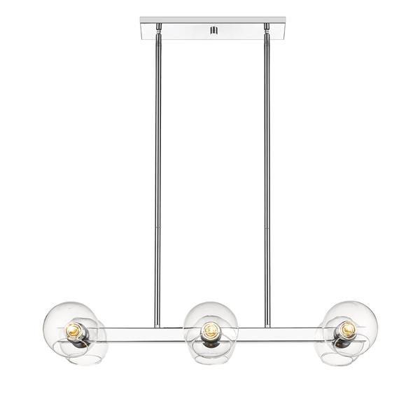 Lumière suspendue à 6 lumières «Marquee», chrome