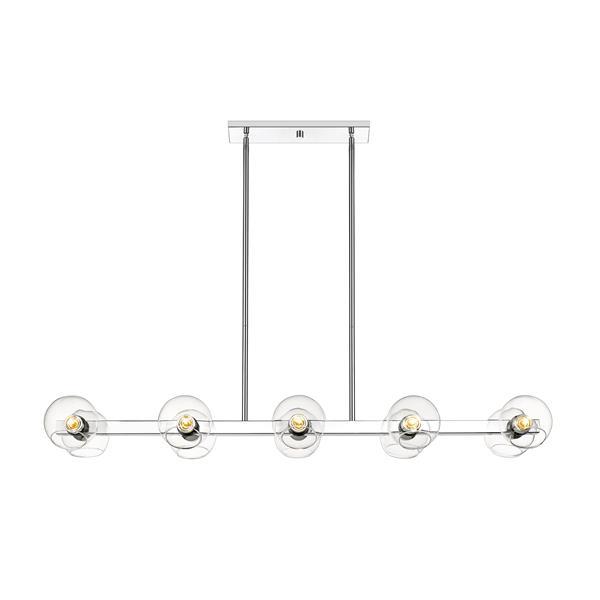 Z-Lite Marquee 10-Light Pendant Light - Chrome