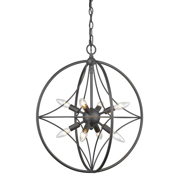 Z-Lite Cortez 8-Light Pendant Light - Bronze