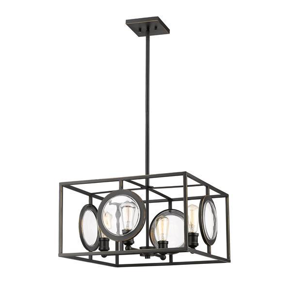 Z-Lite Port 4-Light Pendant Light - Bronze