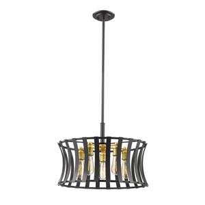 Z-Lite Geist 5-Light Pendant Light - Gold