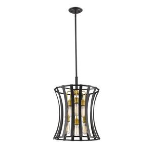 Z-Lite Geist 6-Light Pendant Light - Gold