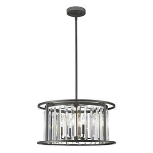 Lumière suspendue à 6 lumières «Monarch», bronze