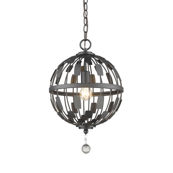 Lumière suspendue à 1 lumière «Almet», bronze