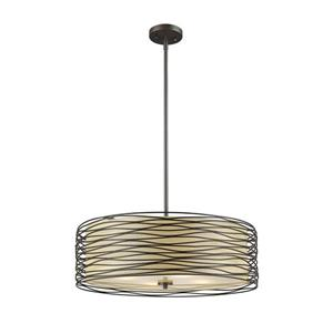Z-Lite Zinnia 3-Light Pendant Light - Bronze