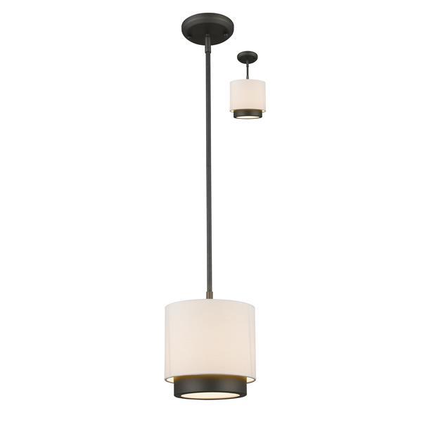 Z-Lite Jade 1-Light Convertible Mini Pendant Light - Bronze