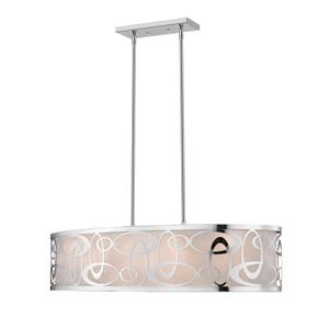 Z-Lite Opal 4-Light Pendant Light - Chrome