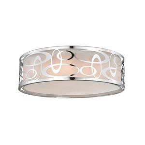 Lumière suspendue à 4 lumières «Opal», chrome