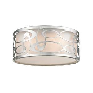Lumière suspendue à 3 lumières «Opal», nickel