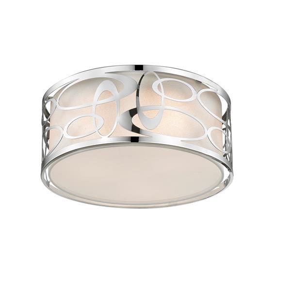 Lumière suspendu Opal à 3 lumières, chrome