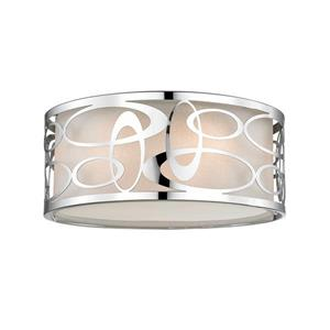 Lumière suspendue à 3 lumières «Opal», chrome