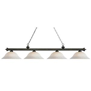 Z-Lite Riviera 4-Light Island/Billiard Light - Bronze