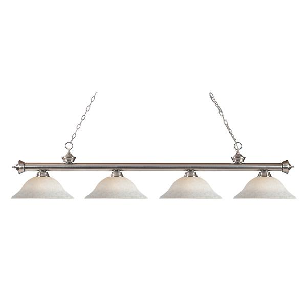 Z-Lite Riviera 4-Light Billiard Light - Nickel