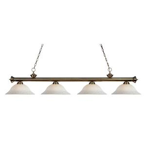 Z-Lite Riviera 4-Light Billiard Light - Brass