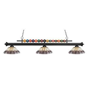Z-Lite Shark 3-Light Billiard Light - Black