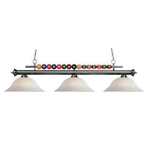 Z-Lite Shark 3-Light Billiard Light - Grey