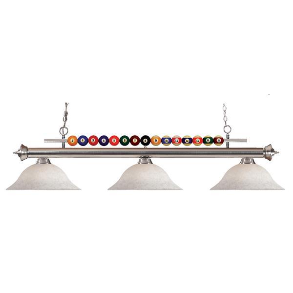Z-Lite Shark 3-Light Billiard Light - Nickel