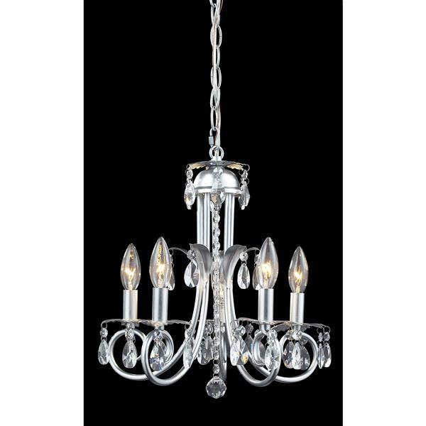 Z-Lite Pearl 5-Light Crystal Chandelier - Silver