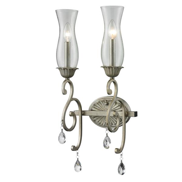 Z-Lite Melina 2-Light Wall Sconce - Antique Silver