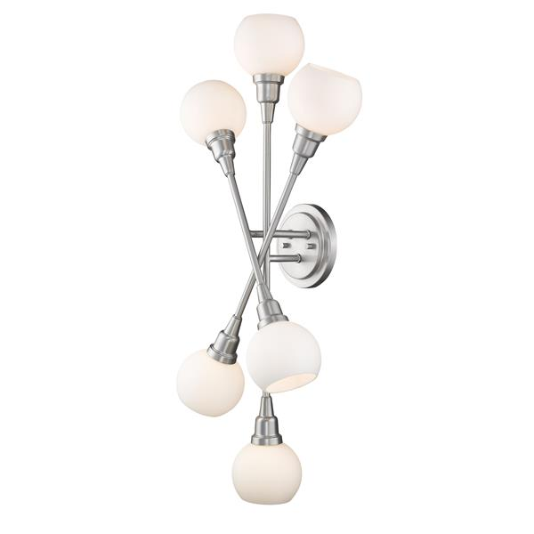 Z-Lite Tian 6-Light Wall Sconce - Brushed Nickel