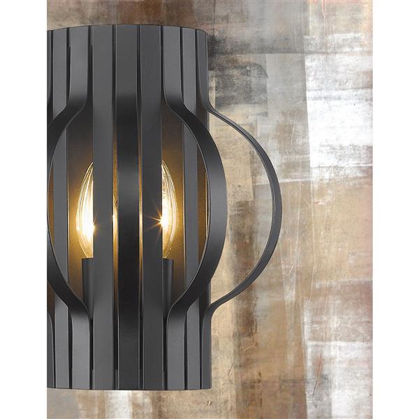 Applique murale à 2 lumières «Moundou», bronze