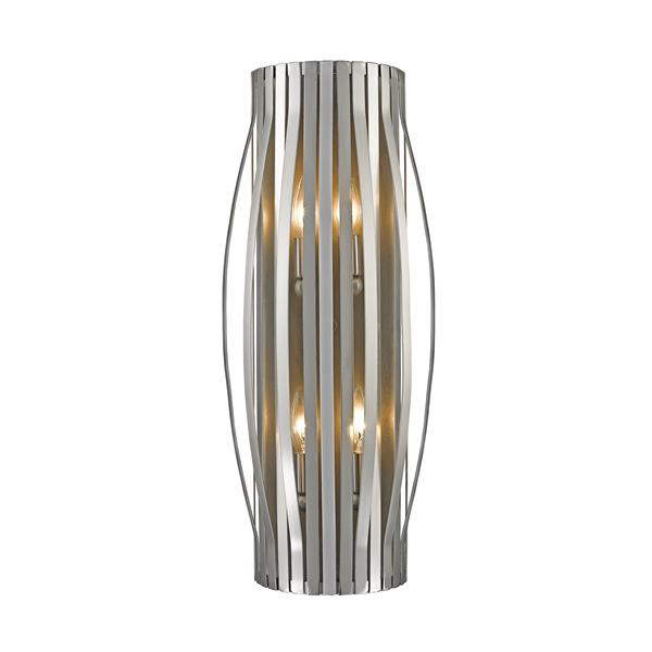 Z-Lite Moundou 4-Light Wall Sconce - Brushed Nickel