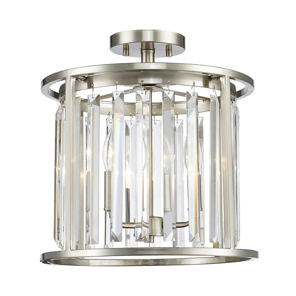 Z-Lite Monarch 3-Light Semi Flush Mount Light - Brushed Nickel