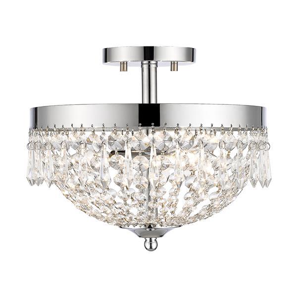 Z-Lite Danza 3-Light Semi Flush Mount Light - Chrome