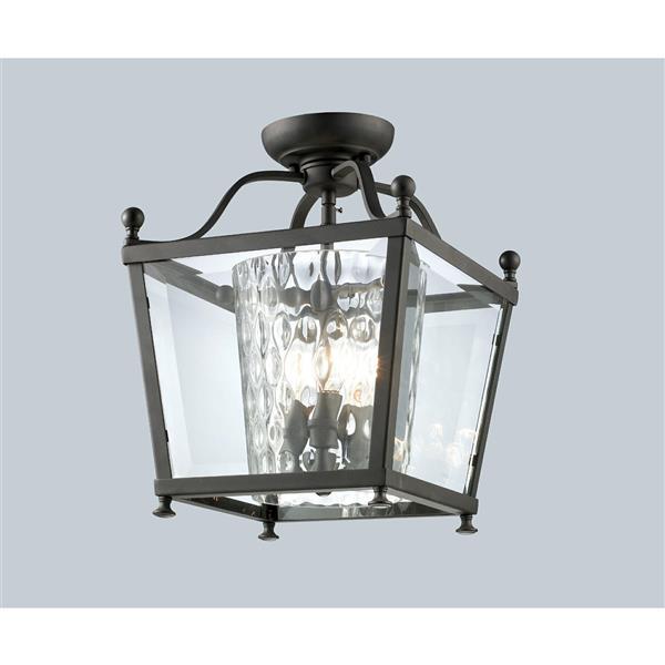 Z-Lite Ashbury 3-Light Semi Flush Mount Light - Bronze