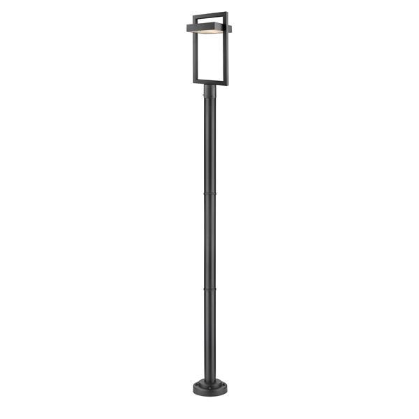 Z-lite Z-Lite Luttrel Outdoor Post Mounted Light - Black 566PHBR-567P-BK-LED