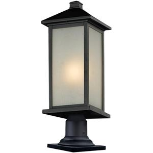 Z-Lite Vienna Outdoor Pier Mount Light - Black