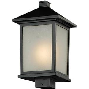 Z-Lite Holbrook Outdoor Post Light - Black