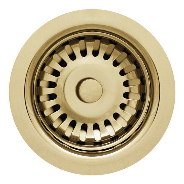 Whitehaus Collection Kitchen Sink Strainer - 3 1/2-in - Stainless Steel
