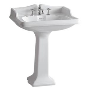 Whitehaus Collection Traditional Pedestal Sink - White