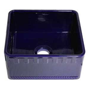 Whitehaus Collection Front Apron Fireclay Sink - 20-in - Blue
