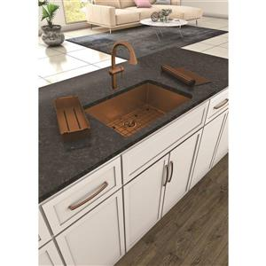 Whitehaus Collection Kitchen Faucet with Pull-Down Sprayer - Copper