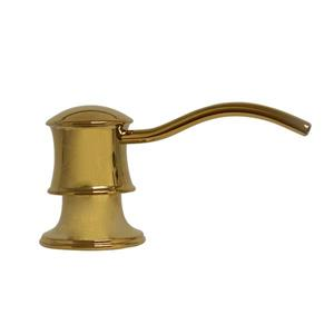 Whitehaus Collection Contemporary Brass Soap/Lotion Dispenser - Polished Brass