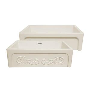 Whitehaus Collection Front Apron Fireclay Sink - 33-in - Off-White