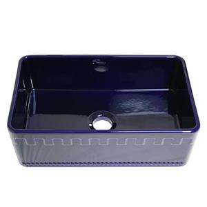 Whitehaus Collection Front Apron Fireclay Sink - 30-in - Blue