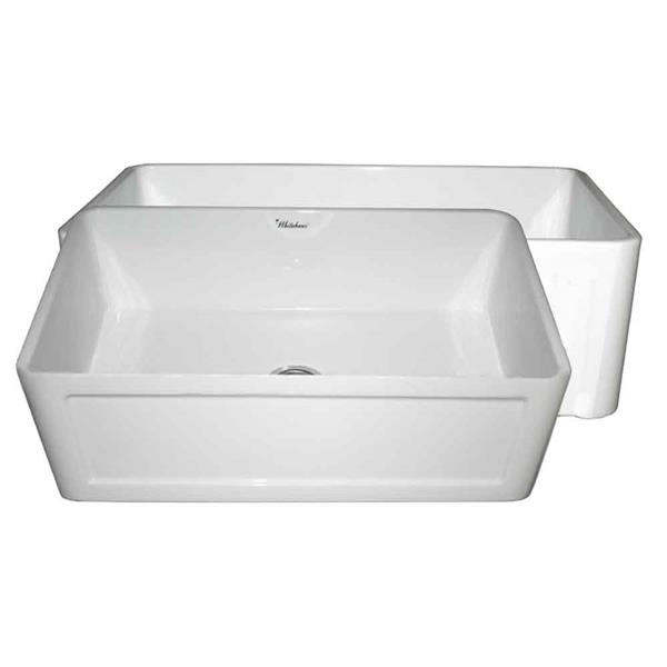 Whitehaus Collection Front Apron Fireclay Sink - 30-in - White